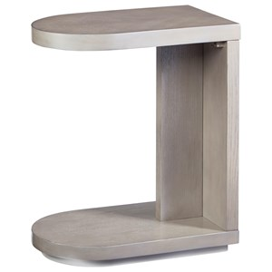 Casual C-Table with Open Bottom Shelf