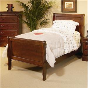 Progressive Furniture Bandera Twin Sleigh Bed