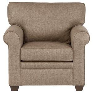 Transitional Chair in Performance Fabric