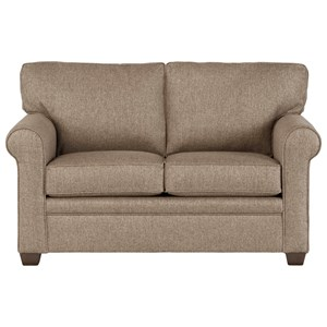 Transitional Loveseat in Performance Fabric
