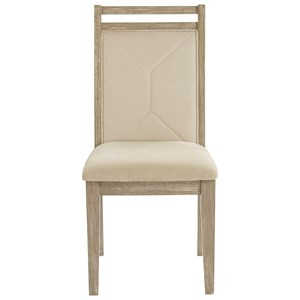 Mid-Century Modern Upholstered Dining Side Chair