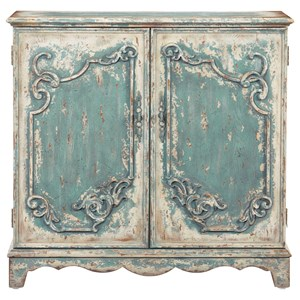 French Style Credenza/Console Cabinet in Antique Blue Finish
