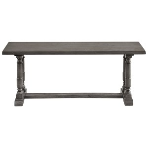 Transitional Dining Bench with Trestle Base