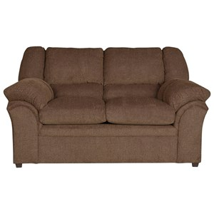 Casual Loveseat with Bustle Back