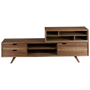 Mid-Century Modern Console Table with Storage