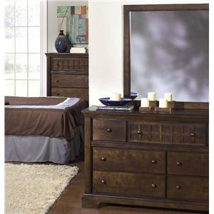 Progressive Furniture Casual Traditions Casual Dresser and Mirror