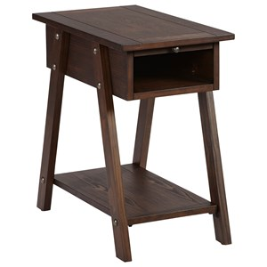 Casual Style Chairside Table with USB Ports and Power Outlets