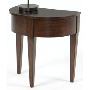 Chairside Table with Hidden Storage
