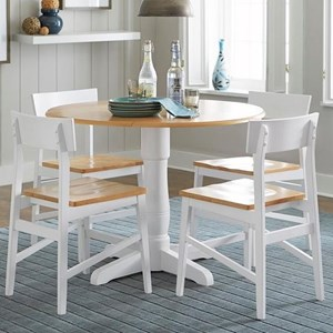 Casual Dining Room Table with Drop Leaves