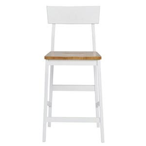 Casual Counter Chair with Two-Tone Finish