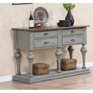 Transitional Cottage Server with Internal and Concealed Storage