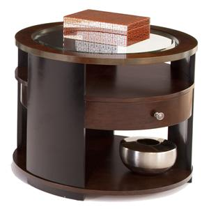 Progressive Furniture Contrasts Round End Table