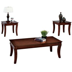 3 Pack Occasional Set w/ Cocktail Table & 2 End Tables