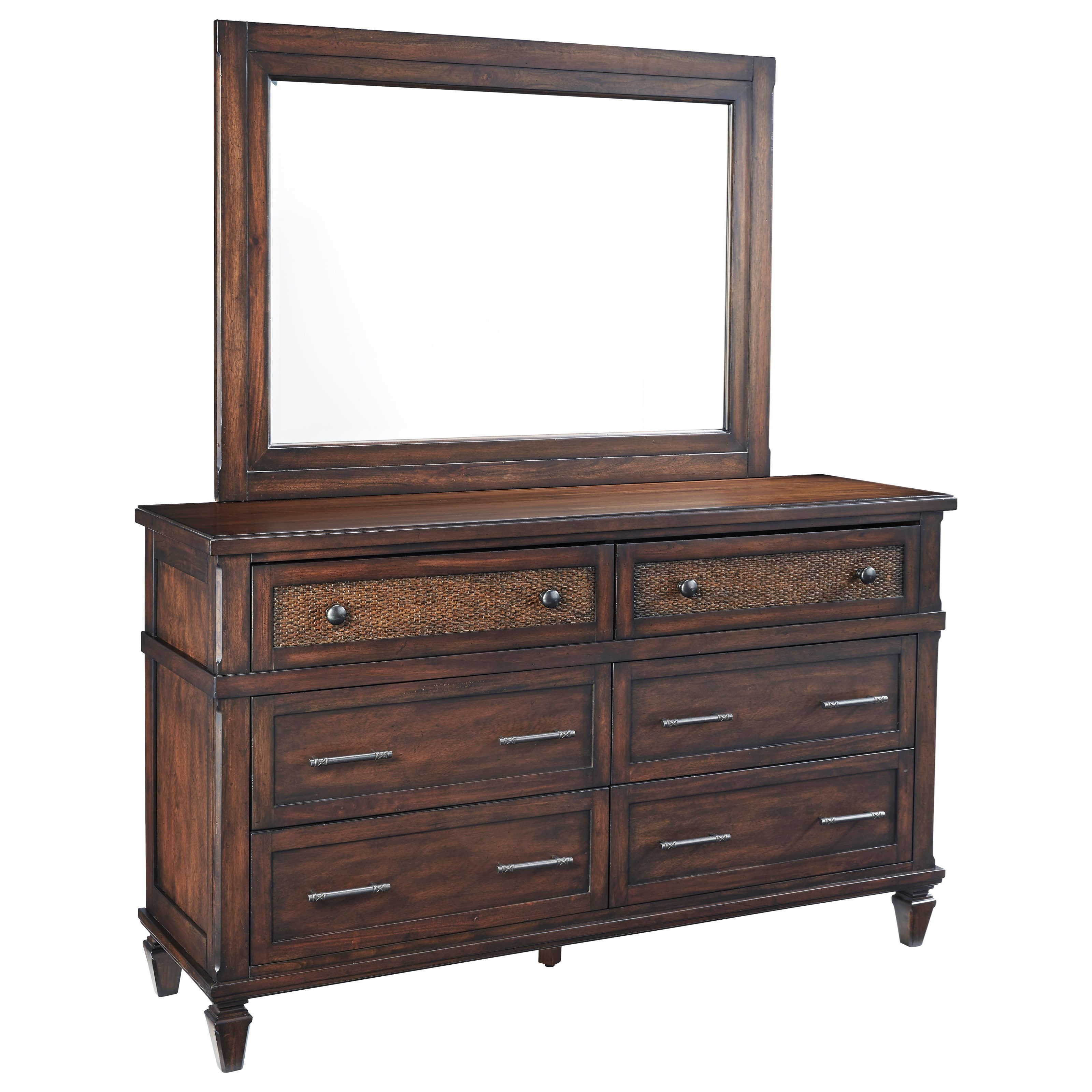 Coronado Drawer Dresser and Mirror Set by Progressive Furniture at Dean Bosler's