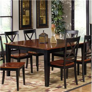 Casual Dining Table with Leaf