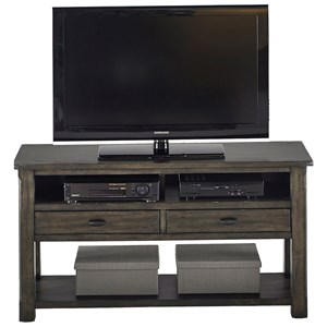 Rustic Entertainment Console in Gray Finish