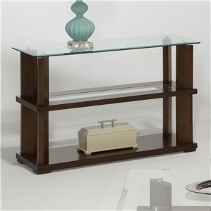 Contemporary Sofa/Console Table with Glass Top