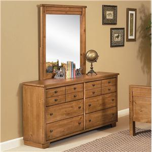 Progressive Furniture Diego Dresser & Mirror