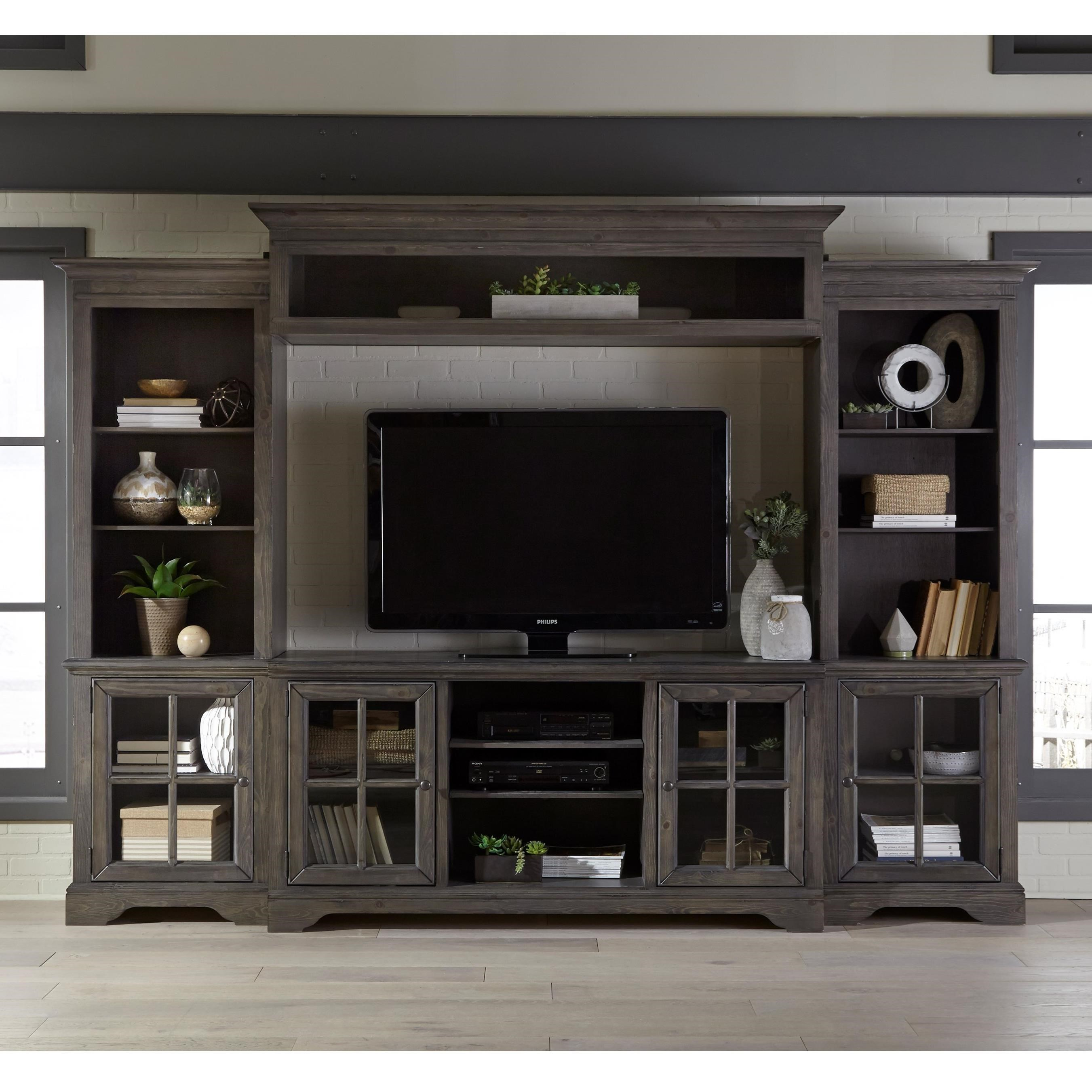 Dilworth Entertainment Wall Unit by Progressive Furniture at Carolina Direct