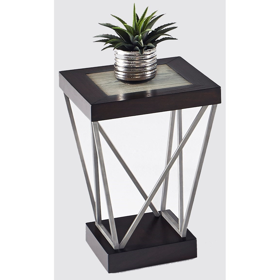 East Bay Chairside Table by Progressive Furniture at Catalog Outlet
