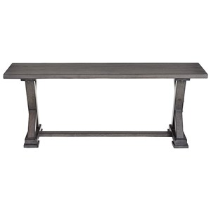Relaxed Vintage Dining Bench with Trestle Base