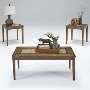 3-Piece Accent Table Set with Tile Tops