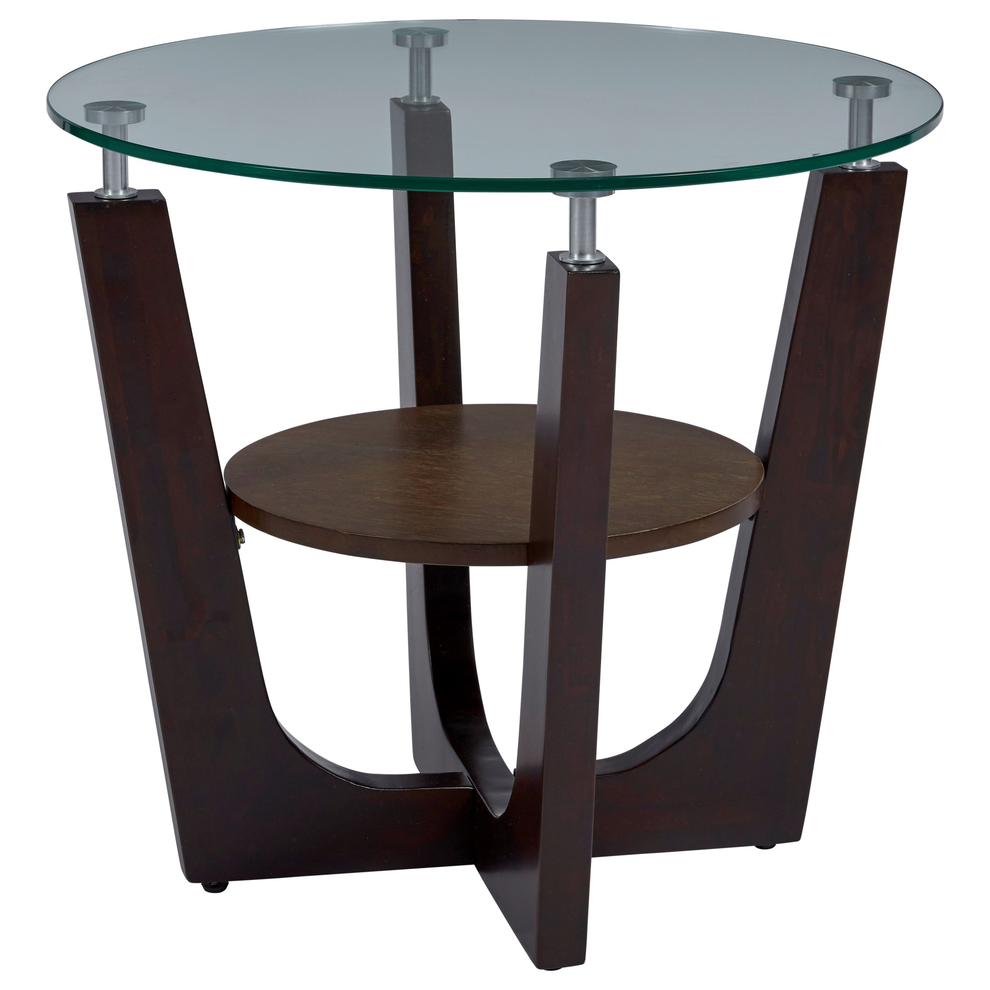 Four-Points End Table by Progressive Furniture at Carolina Direct