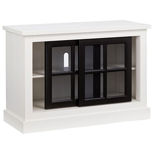 Transitional 40 Inch Console with Sliding Doors