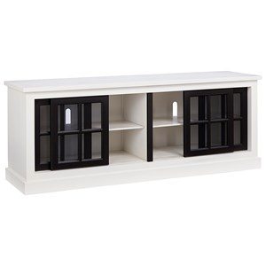 Transitional 74 Inch Console with Sliding Doors