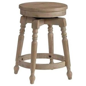 "Transitional 24"" Swivel Barstool"