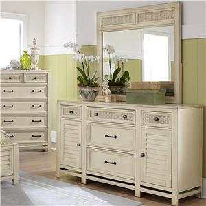 Progressive Furniture Haven Dresser and Mirror Set