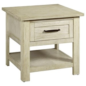 Relaxed Vintage End Table with 1 Drawer