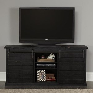 Rustic Entertainment Console with Sliding Barn Doors