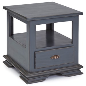 Casual End Table in Boutique Blue Finish