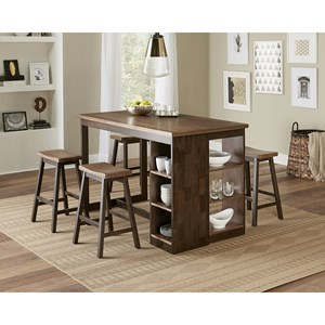 Casual Counter Height Table and Stool Set