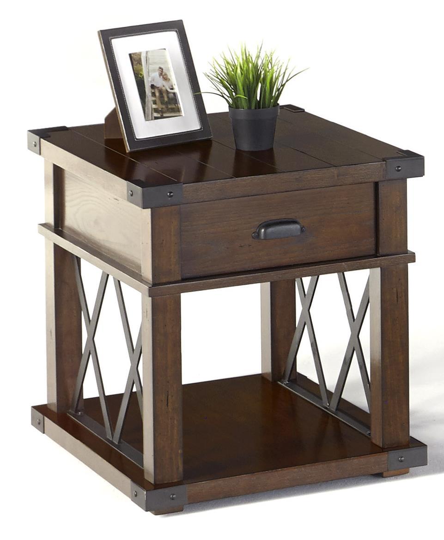 Landmark Rectangular End Table by Progressive Furniture at Catalog Outlet