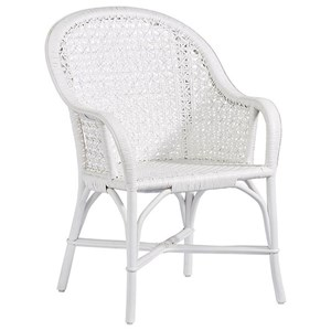 Rattan Accent Arm Dining Chair