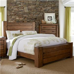 Rustic Queen Panel Bed with Softened Corners