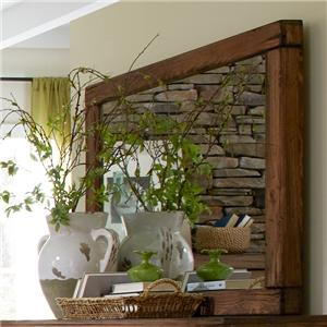 Rustic Landscape Mirror with Softened Pine Corners