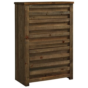 Rustic Chest with Paneled Case Front