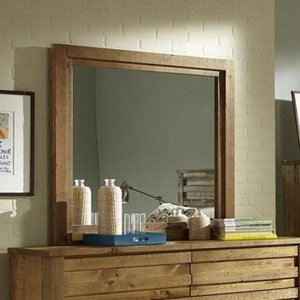 Rustic Mirror with Wood Frame