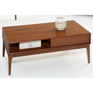 Cocktail Table with Sliding Door