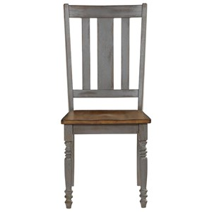 Shabby Chic Dining Chair with Slat Back