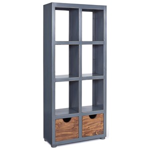 Bookcase with Storage Cubes