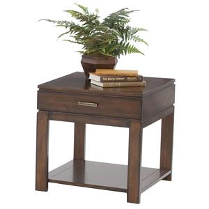 Progressive Furniture Miramar Birch End Table