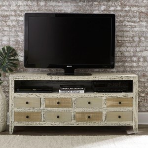 Rustic 61 Inch Console with Distressed Finish