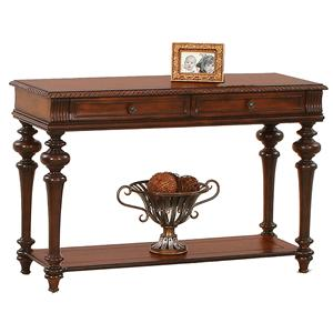 Traditional Sofa Table with Two Drawers