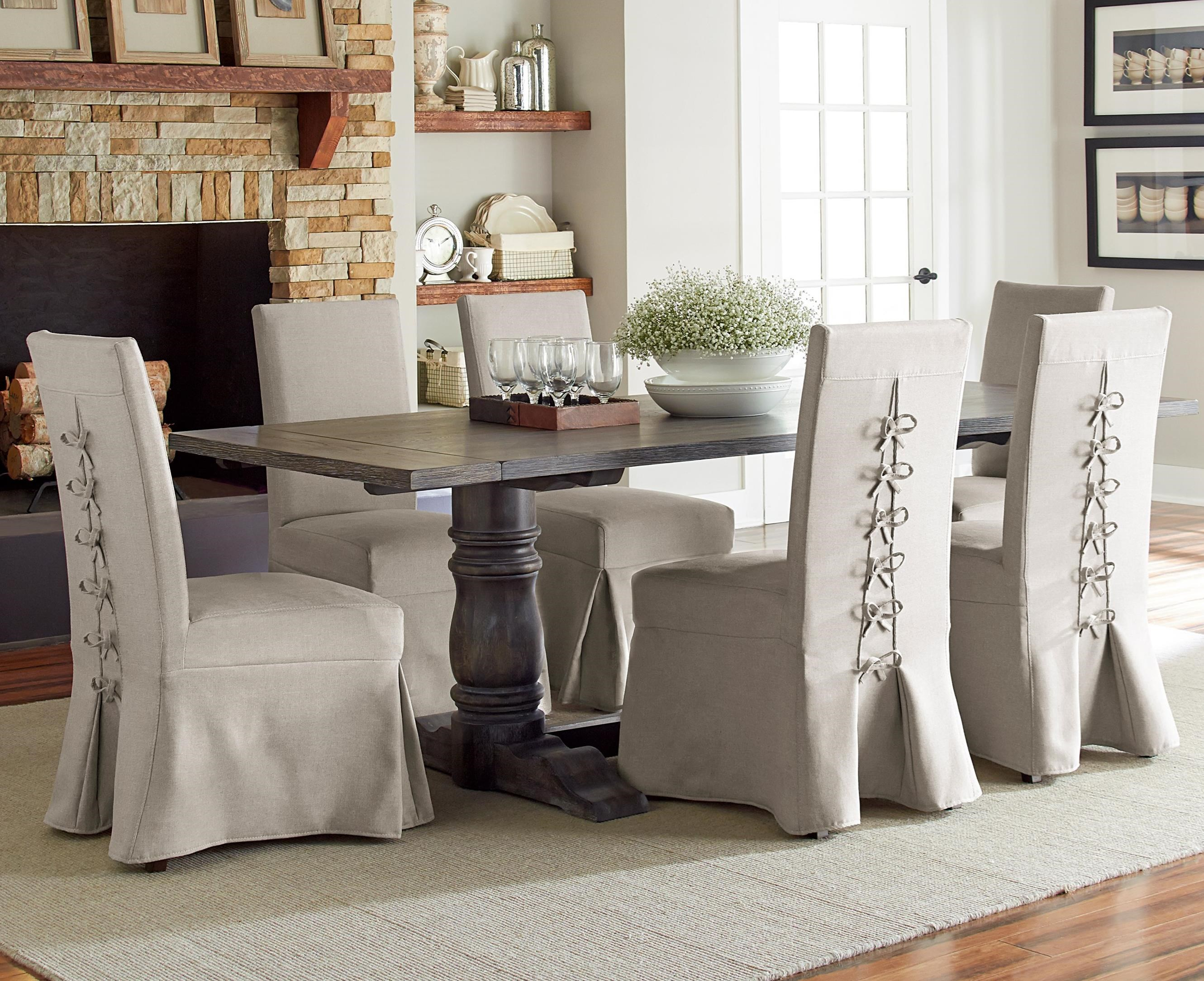 Muses 7-Piece Rectangular Dining Table Set by Progressive Furniture at Van Hill Furniture