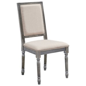 Solid Wood Upholstered Back Chair