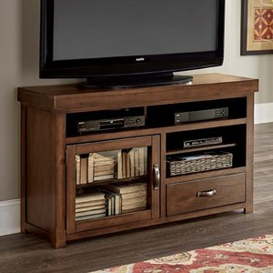 Transitional 54 Inch Console with Glass Door